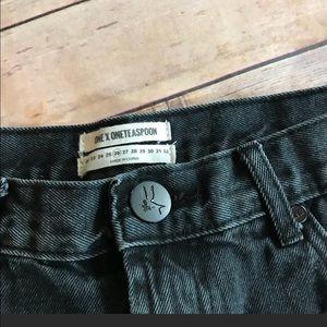 One Teaspoon Shorts - One teaspoon rollers shorts in black